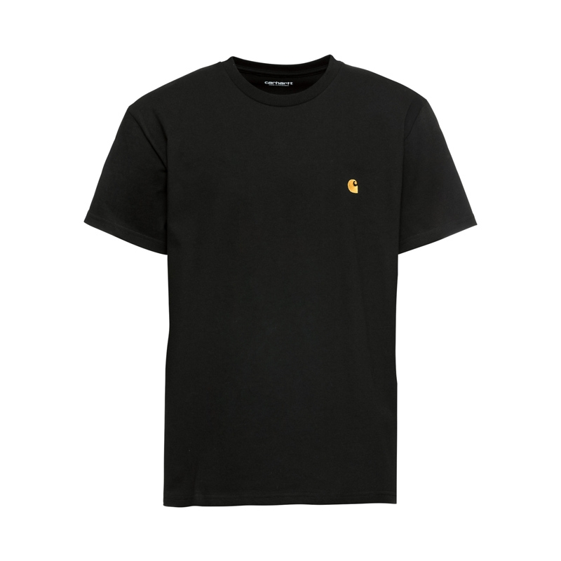 Carhartt Wip S/S Chase T-Shirt black/gold I026391-89-90