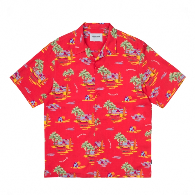 Carhartt WIP S/S Beach Shirt (red) i028795 0bd